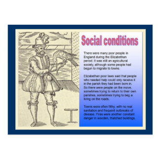 History, Social conditions in Elizabethan England Postcard