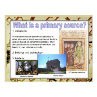 History, Sources, Primary sources Postcard