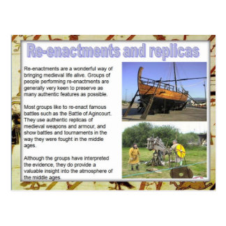 History, Sources, replicas and reenactments Postcard