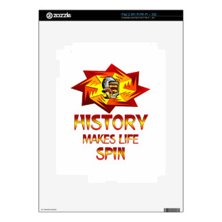 History Spins iPad 2 Skin