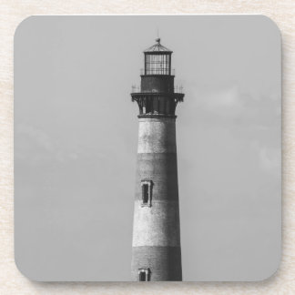 History Stands Tall Grayscale Beverage Coaster