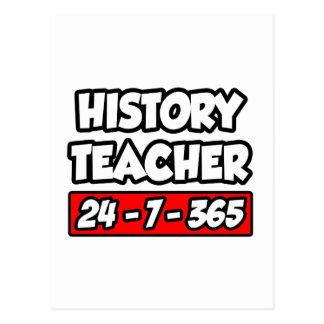 History Teacher 24-7-365 Postcard