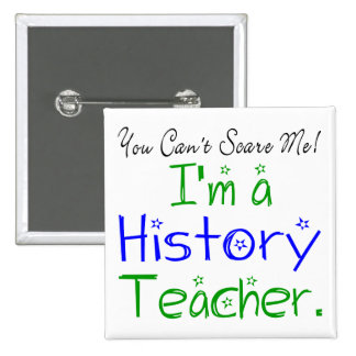 History Teacher Button