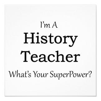 History Teacher Card