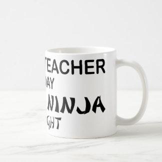 History Teacher Deadly Ninja Classic White Coffee Mug