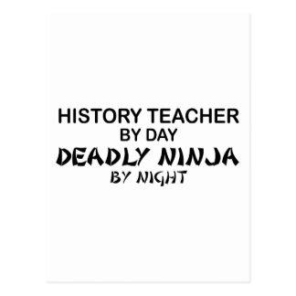 History Teacher Deadly Ninja Postcard