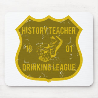 History Teacher Drinking League Mouse Pads