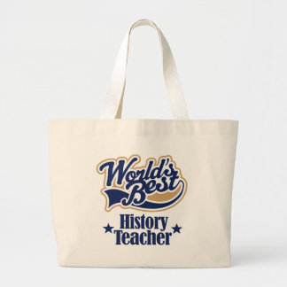 History Teacher Gift For (Worlds Best) Large Tote Bag