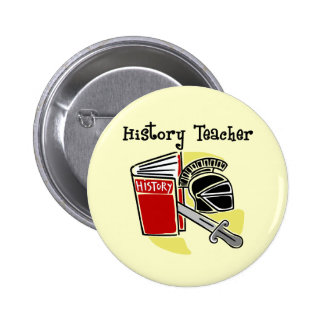 History Teacher Gifts Pin