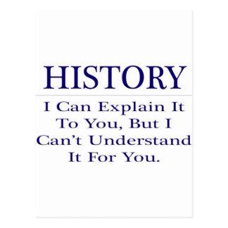 History Teacher Joke .. Explain Not Understand Postcard