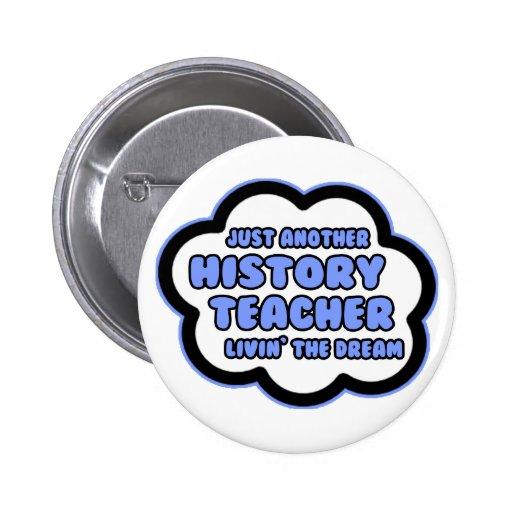 History Teacher .. Livin' The Dream Pins