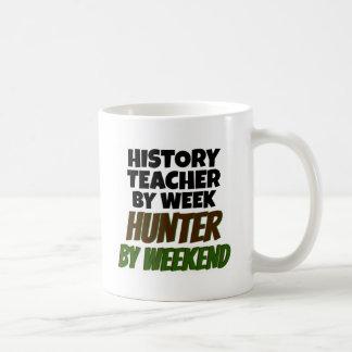 History Teacher Loves Hunting Classic White Coffee Mug