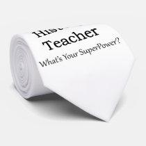 History Teacher Neck Tie