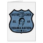 History Teacher Obama Nation Greeting Cards