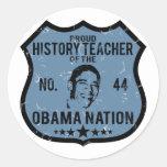 History Teacher Obama Nation Sticker