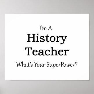History Teacher Poster