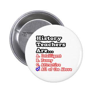 History Teacher Quiz Joke Buttons