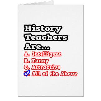 History Teacher Quiz...Joke Card