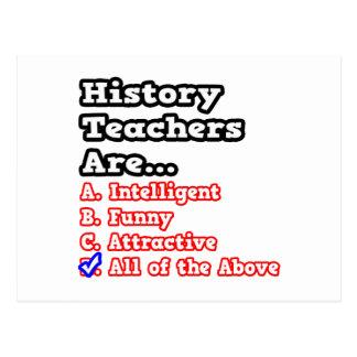 History Teacher Quiz...Joke Postcard