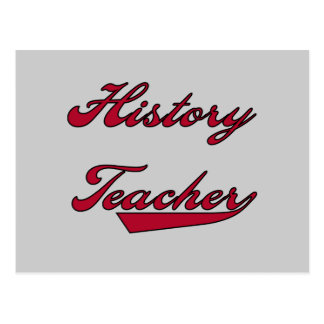 History Teacher Red T shirts and Gifts Postcard