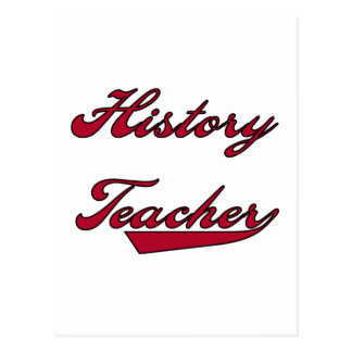 History Teacher Red Tshirts and Gifts Postcard