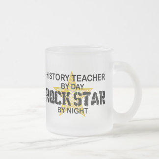 History Teacher Rock Star 10 Oz Frosted Glass Coffee Mug