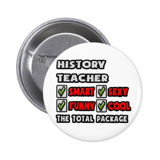 History Teacher ... The Total Package 2 Inch Round Button