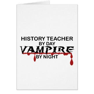 History Teacher Vampire by Night Card