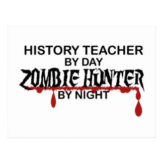 History Teacher Zombie Hunter Postcard