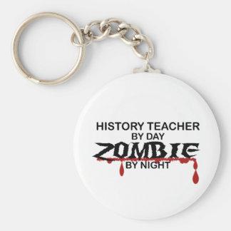 History Teacher Zombie Basic Round Button Keychain