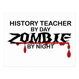 History Teacher Zombie Postcard