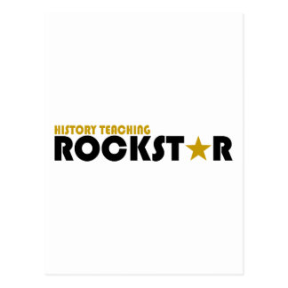History Teaching Rockstar Postcard