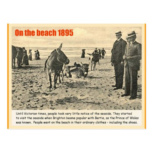 History, Victorian England, Beach 1895 Post Cards
