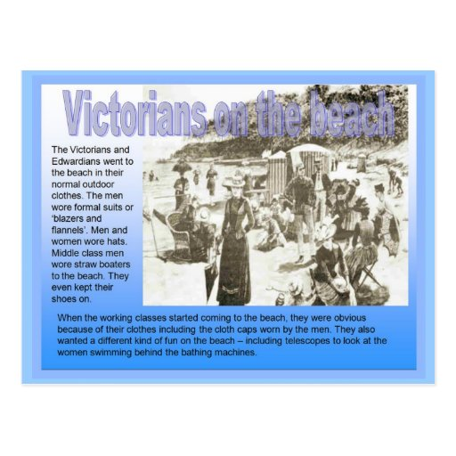 History, Victorian, On the beach Post Cards