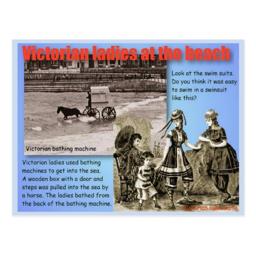 History, Victorians, Ladies at the beach Post Cards