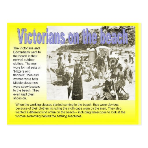 History, Victorians on the beach Post Cards