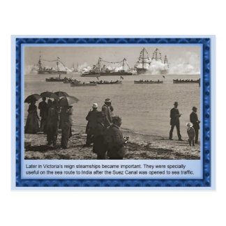 History, Victorians, Steamships Postcard