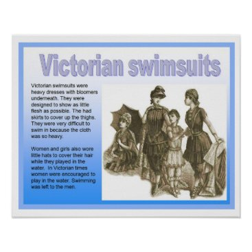 Beach Themed History, Victorians, Swimsuits Poster