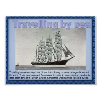 History, Victorians Travelling by sea Poster