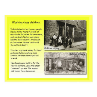 History, Victorians, Working class children Postcard