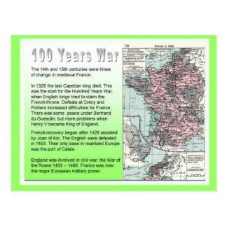 History, War and Peace, 100 years war Postcard