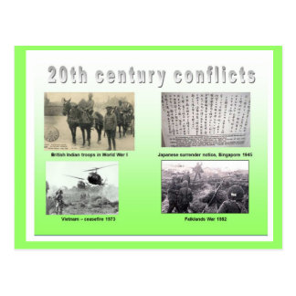 History, War and Peace, 20th century conflicts Postcard