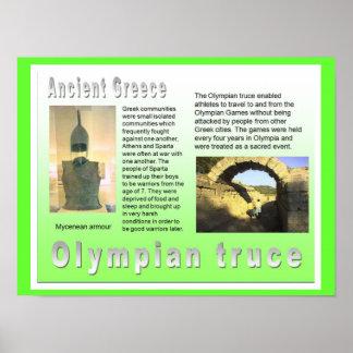 History, War and Peace, Olympian Truce Print