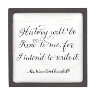 History will be kind motivational quote typography jewelry box