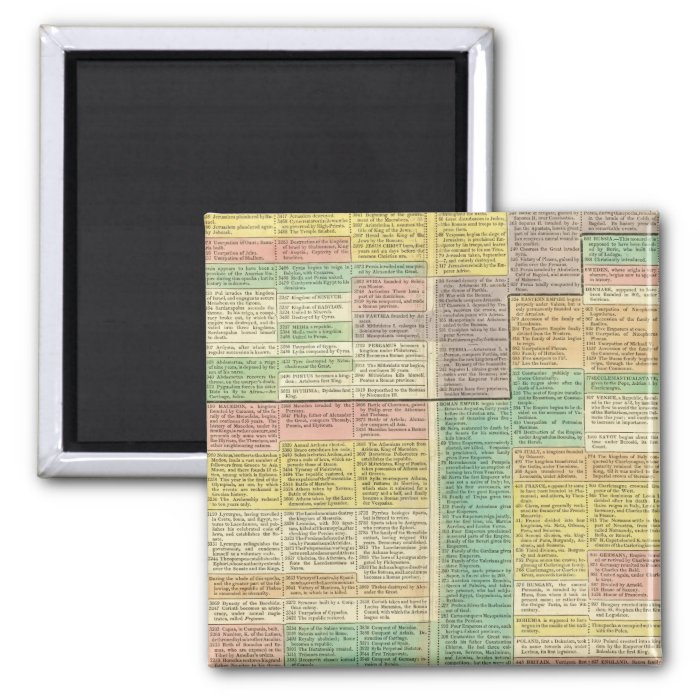 History World to 1789 2 Inch Square Magnet