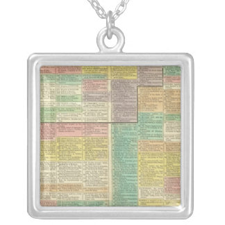 History World to 1789 Silver Plated Necklace
