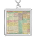 History World to 1789 Square Pendant Necklace