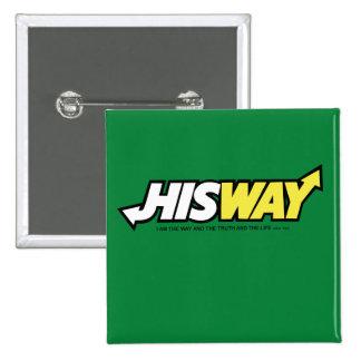 HISWAY Logo Pinback Button