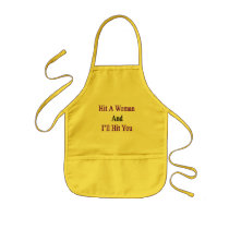 Hit A Woman And I'll Hit You Kids' Apron