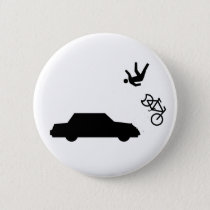Hit and Run Pinback Button